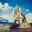 Vintage look Tower Bridge, London — Stock Photo