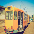 Retro look A tram — Stock Photo