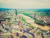 Look retro frankfurt am main, alemanha — Foto Stock