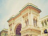 Retro look Galleria Vittorio Emanuele II, Milan — ストック写真