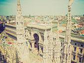 Retro look Milan, Italy — Stock Photo