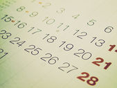 Calendario look retrò — Foto Stock