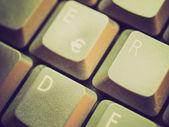 Retro-look-computer-tastatur — Stockfoto