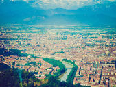 Retro look turin, italien — Stockfoto