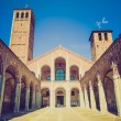 Stock Photo: Retro look Sant Ambrogio church, Milan