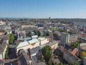 Letecký pohled na frankfurt — Stock fotografie