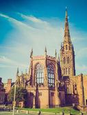 Catedral de coventry look retro — Foto de Stock