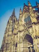Retro look Koeln Dom — Stockfoto