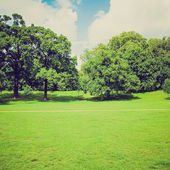 复古外观肯辛顿花园伦敦 — 图库照片
