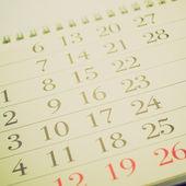 Retro-look kalender bild — Stockfoto