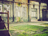 Retro look Abandoned factory — Stock Photo