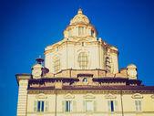 Iglesia de san lorenzo de aspecto retro, turín — Foto de Stock
