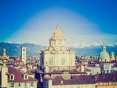 церковь сан-лоренцо в стиле ретро, турин — Стоковое фото