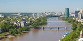 Vista aérea de frankfurt - panorama — Foto de Stock