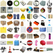 Stock Photo: Many objects isolated