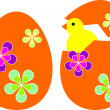 Stock Photo: Illustration of Easter egg with chicken