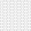 Vector illustration of an English bond brick wall — Stock Photo