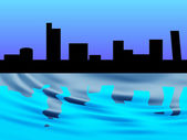City skyline illustration — Stockfoto