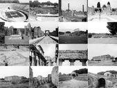 ポンペイ遺跡パエストゥムのコラージュ — ストック写真