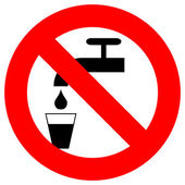 Do not drink sign — Stock Photo
