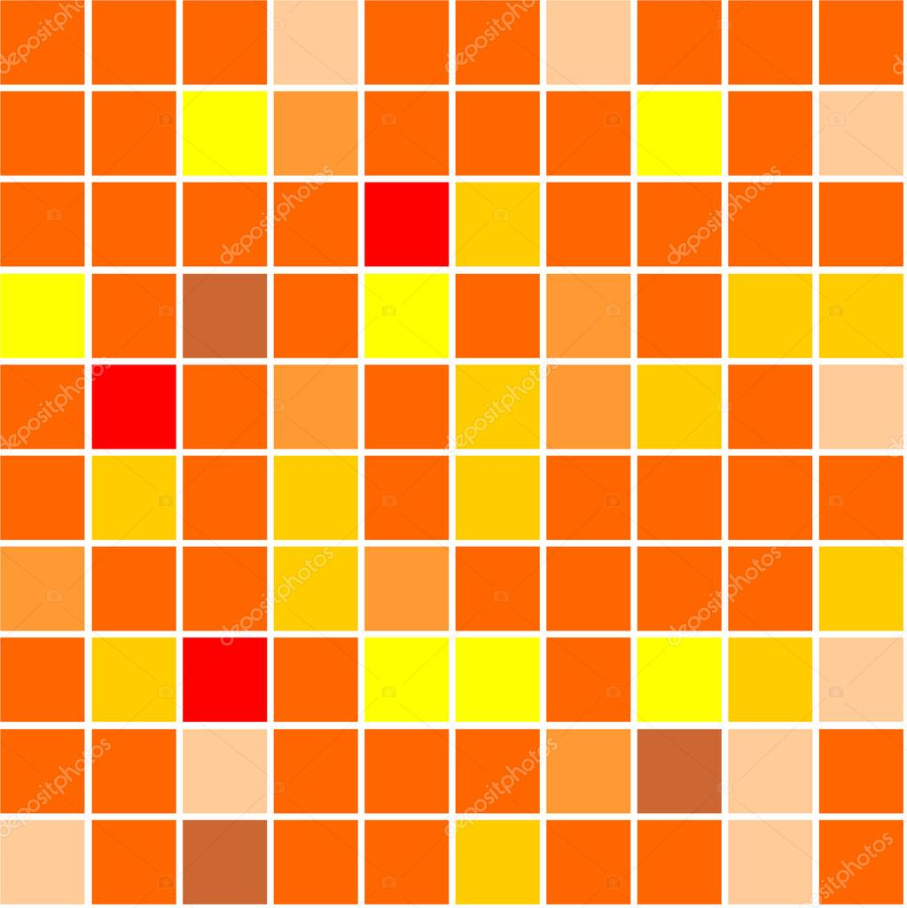 Seamless tiles background different shades of orange - Different shades of orange ...