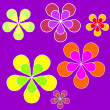 图库照片: Floral sixties background