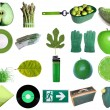 Green objects — Foto de Stock