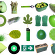 Green objects — Stock fotografie