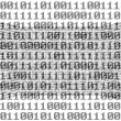 Digital room with binary numbers 0 and 1 — Stock Photo