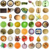 Collage de nourriture isolé — Photo