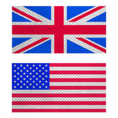 Uk en de v.s. vlag — Stockfoto