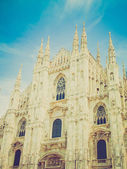 Retro look Duomo, Milan — Stock Photo