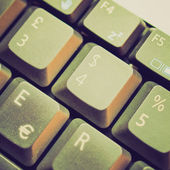 Retro vzhled počítačová klávesnice — Stock fotografie
