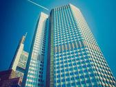 Look rétro banque centrale à francfort — Photo