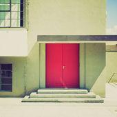 Retro look Bauhaus Dessau — Stock Photo