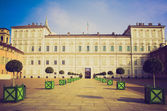 Retro look Palazzo Reale Turin — Stock Photo