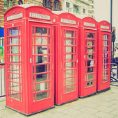 Vintage look London telephone box — Stock Photo