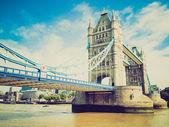 Vintage wygląd mostu tower bridge, londyn — Zdjęcie stockowe
