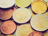 Retro look Euros picture — Stock Photo