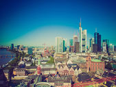 Look retro frankfurt am main — Foto Stock