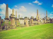Retro looking Glasgow necropolis — Stock Photo