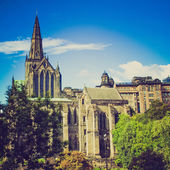 Retro looking Glasgow cathedral — Stock Photo