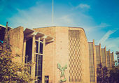 Retro look Coventry Cathedral — 图库照片