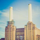 Vintage look Battersea Powerstation London — Stock Photo