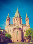 Retro look Mainz Cathedral — Stock Photo