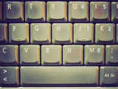 Retro look Computer keyboard — Stock Photo