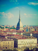 Retro look Mole Antonelliana, Turin — Stock Photo