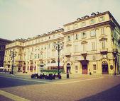 Retro look Piazza Carignano Turin — Stock Photo