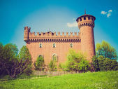 Retro look Medieval Castle Turin — Stock Photo