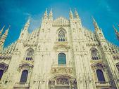 Retro look Duomo, Milan — Stock Photo